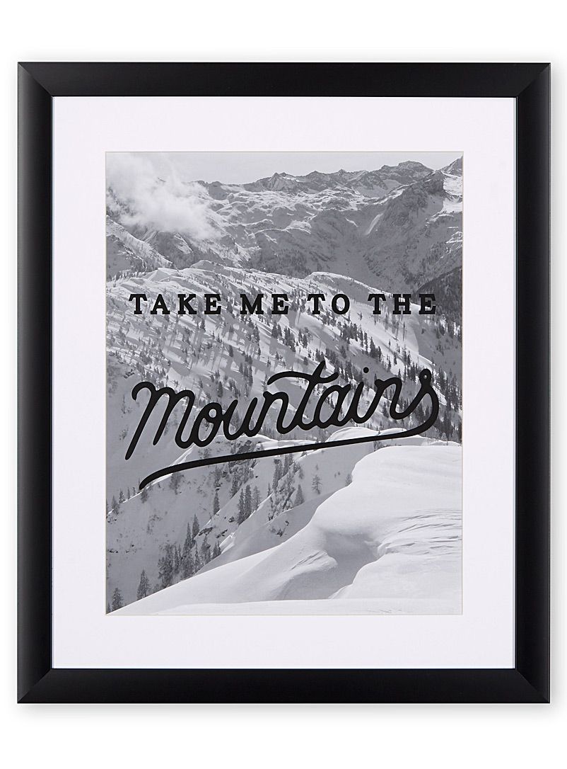 Mountain adventure art print  15&quote; x 18&quote; - Accent Furniture