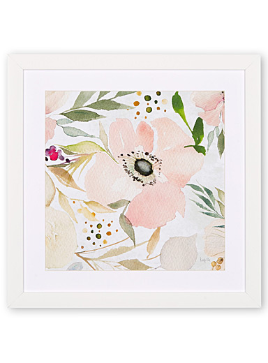 Painterly flower art print  16&quote; x 16&quote;