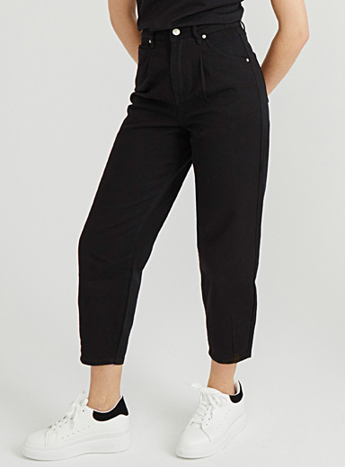 Twik Black Organic cotton barrel-fit jean for women