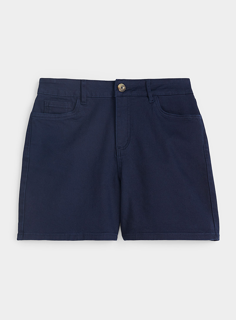 Contemporaine Dark Blue Organic cotton denim short for women