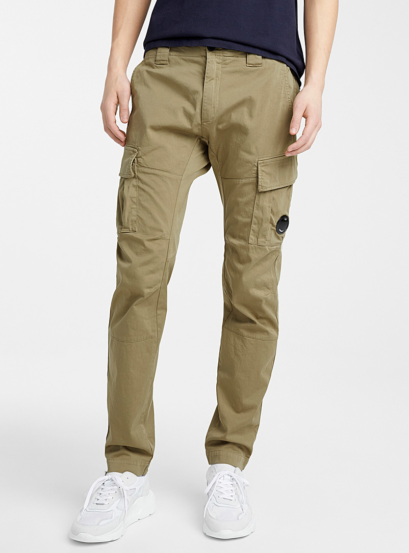 C.P. Company Mossy Green Raso Stretch pant for men