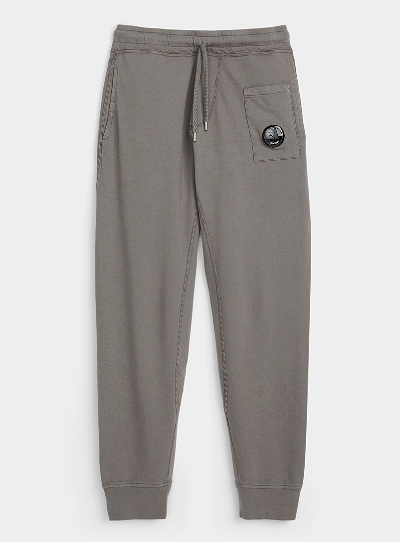 C.P. Company Grey Goggle lens coloured jersey joggers for men