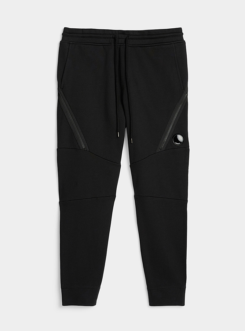 C.P. Company Black XL zip joggers for men