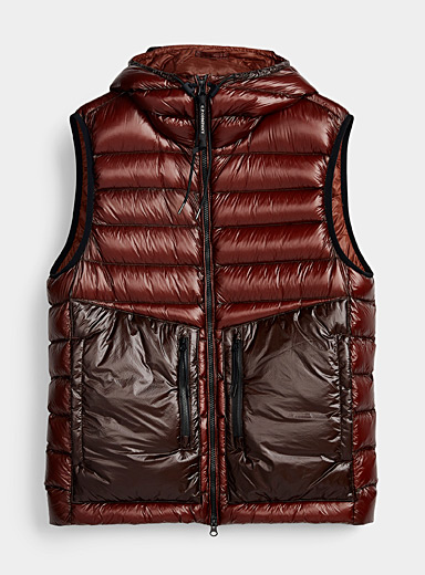 C.P. Company Brown Ombré quilted jacket for men