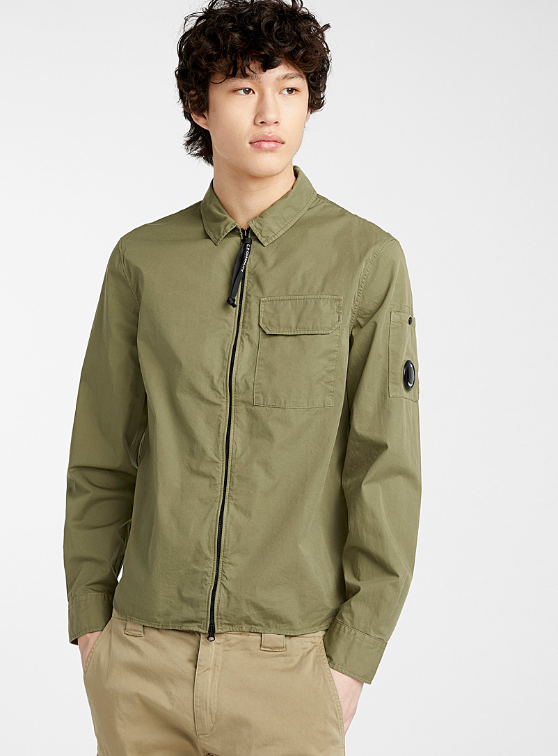 C.P. Company Mossy Green Military-style shirt for men