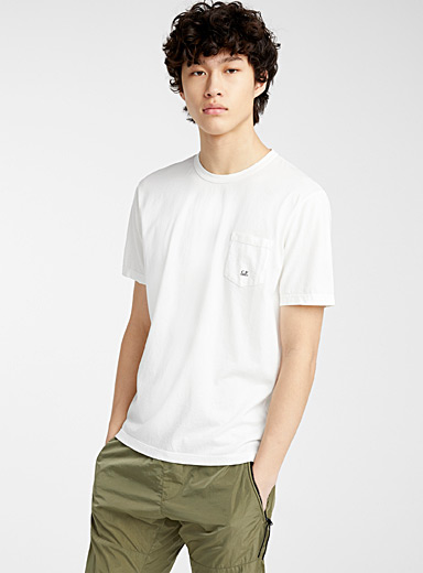 C.P. Company White Mako jersey T-shirt for men