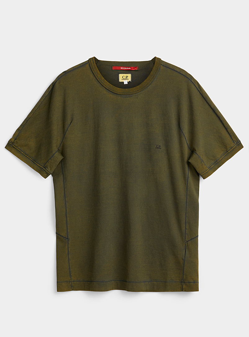C.P. Company Green Makò recoloured jersey T-shirt for men