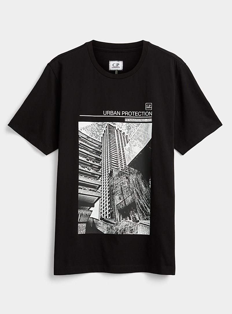 C.P. Company Black Urban Protection graphic T-shirt for men