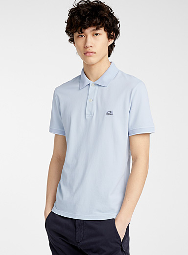 C.P. Company Blue Tacting Piquet polo for men
