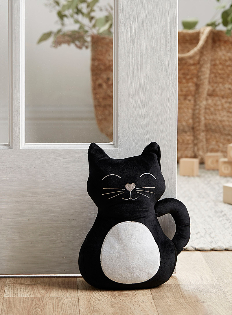 Good luck cat door stopper - Stylish Objects & Decor Accents - Black