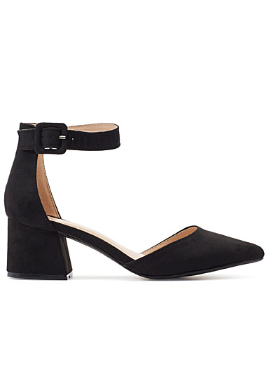 Pointed bloc-heeled sandals