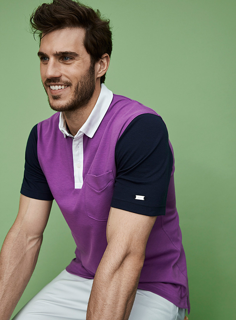 Player colour block structured polo