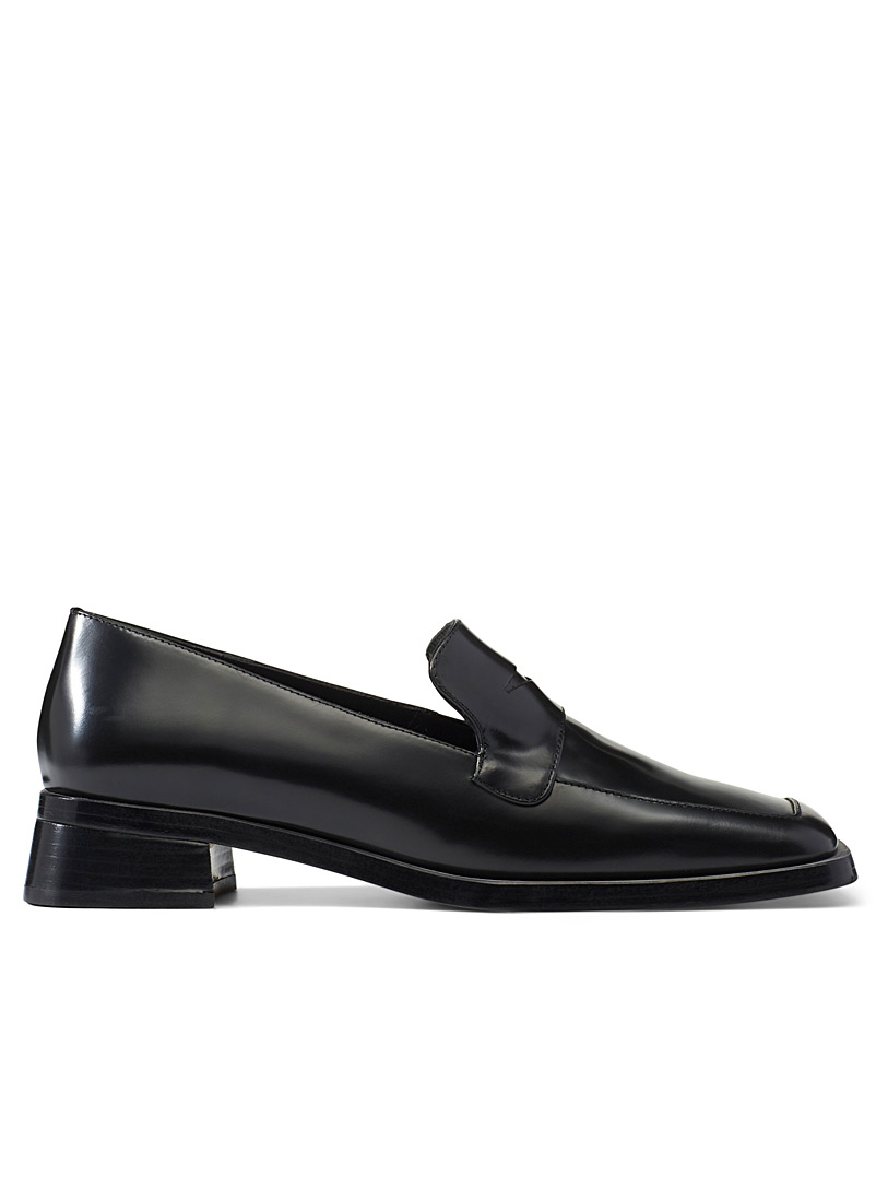 Miista Black Crimson square-toe loafers for women
