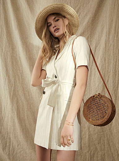 Linen-cotton jacket dress