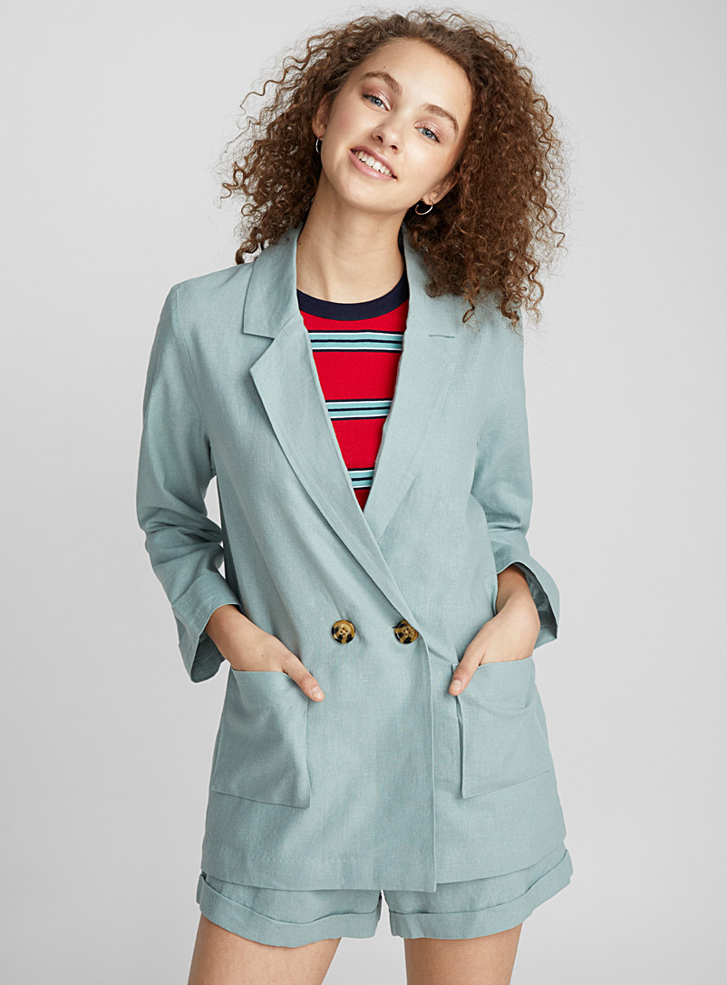 Two-button linen jacket - Blazers - Lime Green