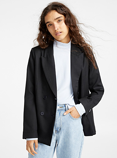Double-breasted loose jacket