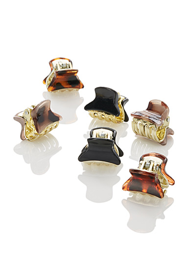 Gold-accent clips  Set of 6