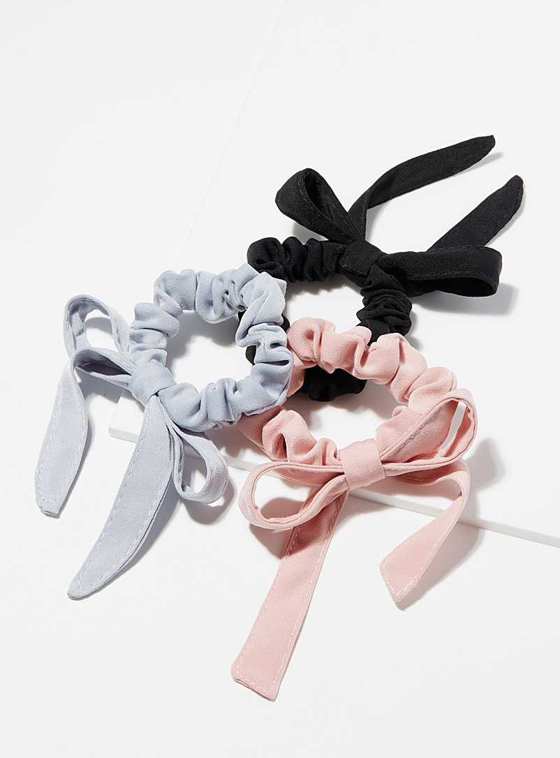 Ribbon bow scrunchies Set of 3
