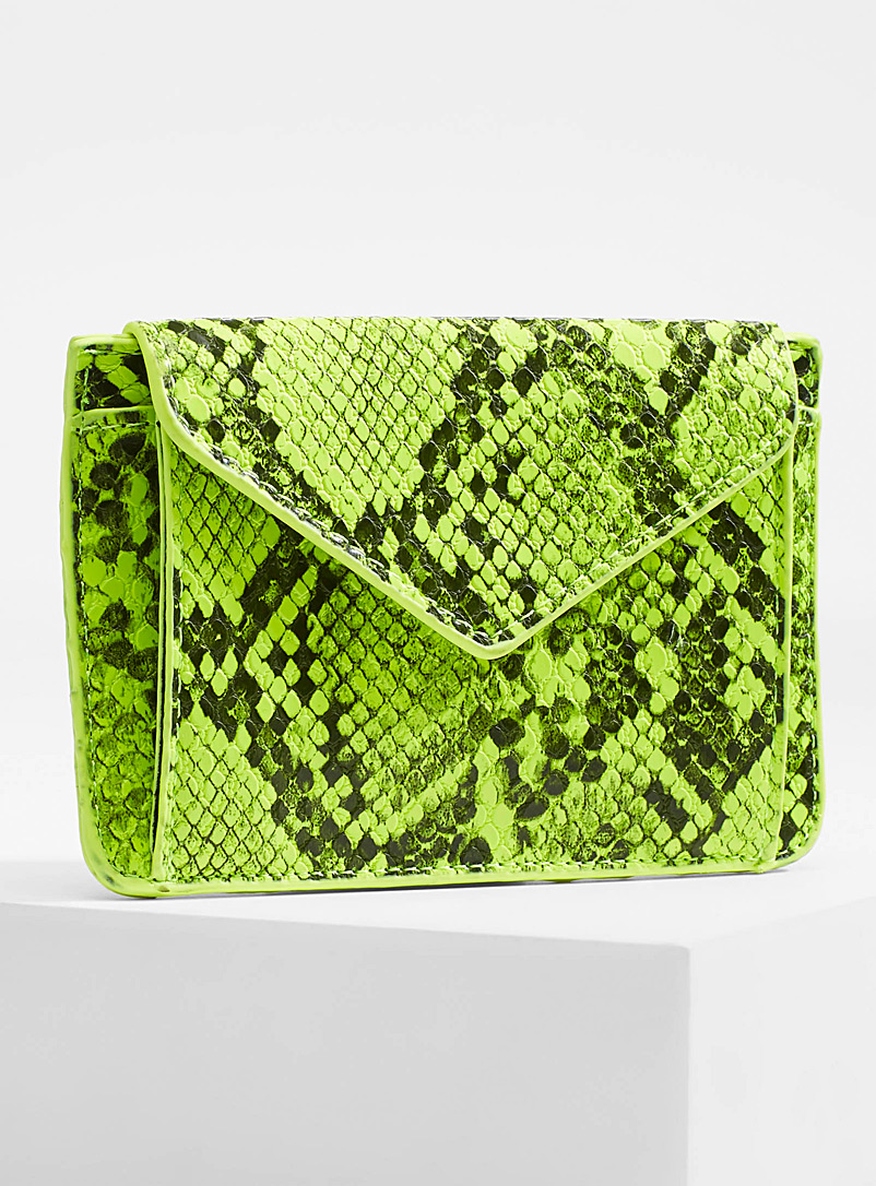 Textured python wallet - Wallets - Patterned Green
