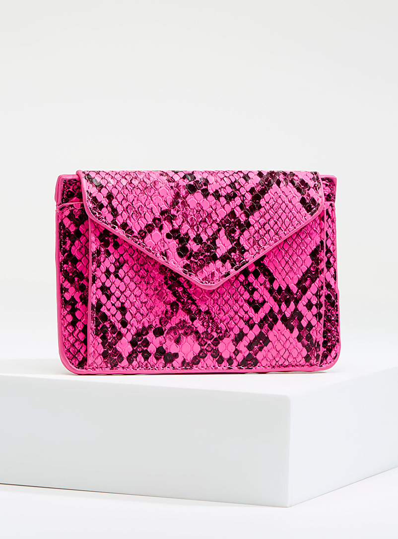 Textured python wallet - Wallets - Patterned Red