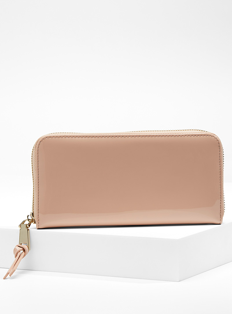 Coated faux-leather wallet - Wallets - Dusky Pink