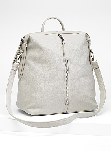 Centre zip backpack