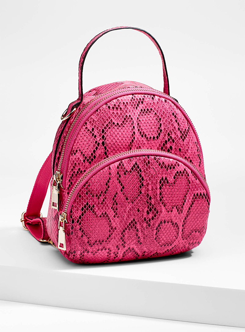 Snakeskin backpack - Backpacks - Patterned Red