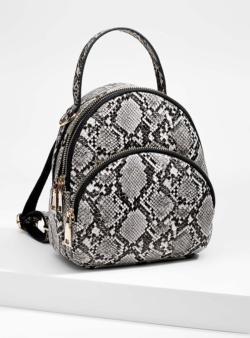Snakeskin backpack - Backpacks - Patterned Black