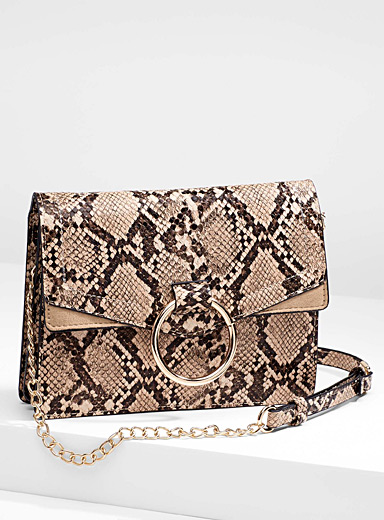 Gold ring python clutch