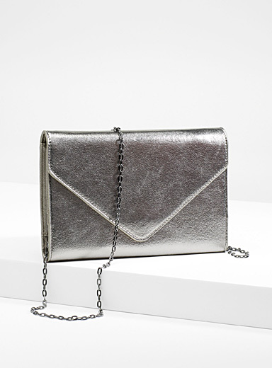 Sparkly envelope clutch