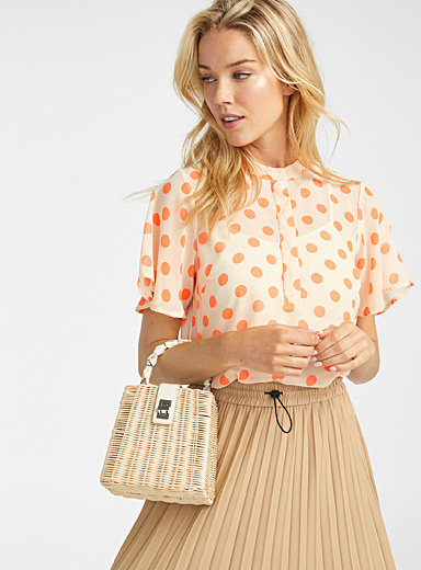 Rattan ladylike bag