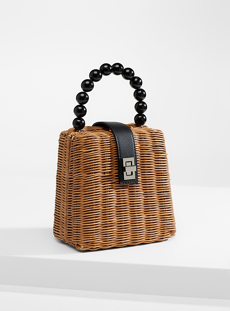Simons Assorted Rattan ladylike bag for women