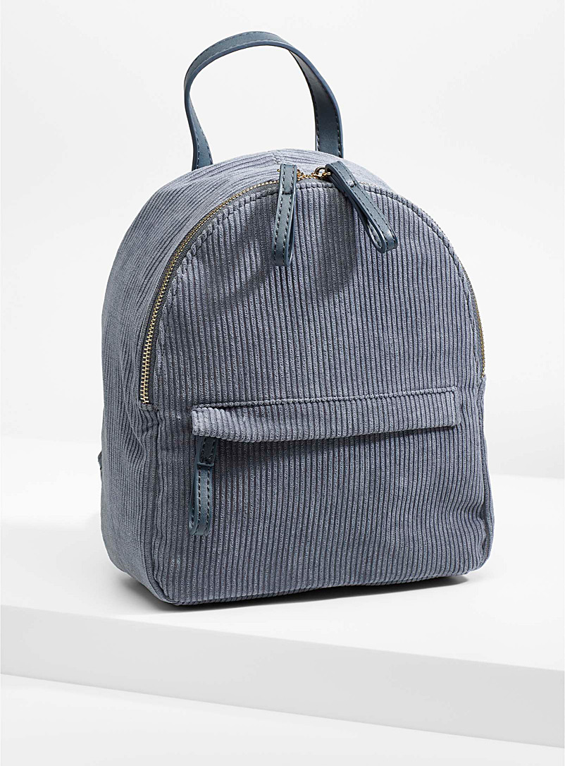 Round corduroy backpack - Backpacks - Grey