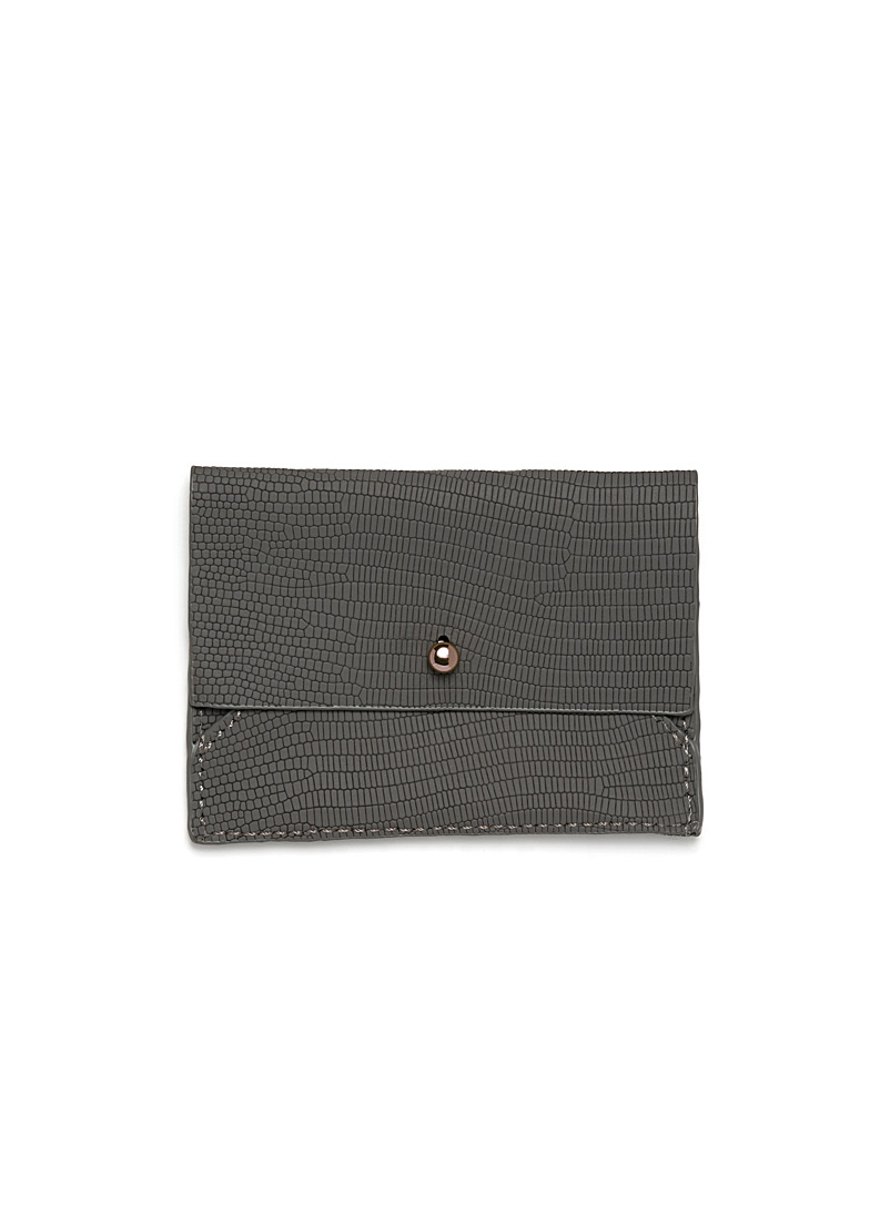 Animal print card holder - Wallets - Dark Grey