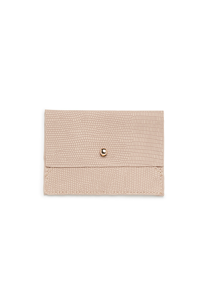 Animal print card holder - Wallets - Dusky Pink