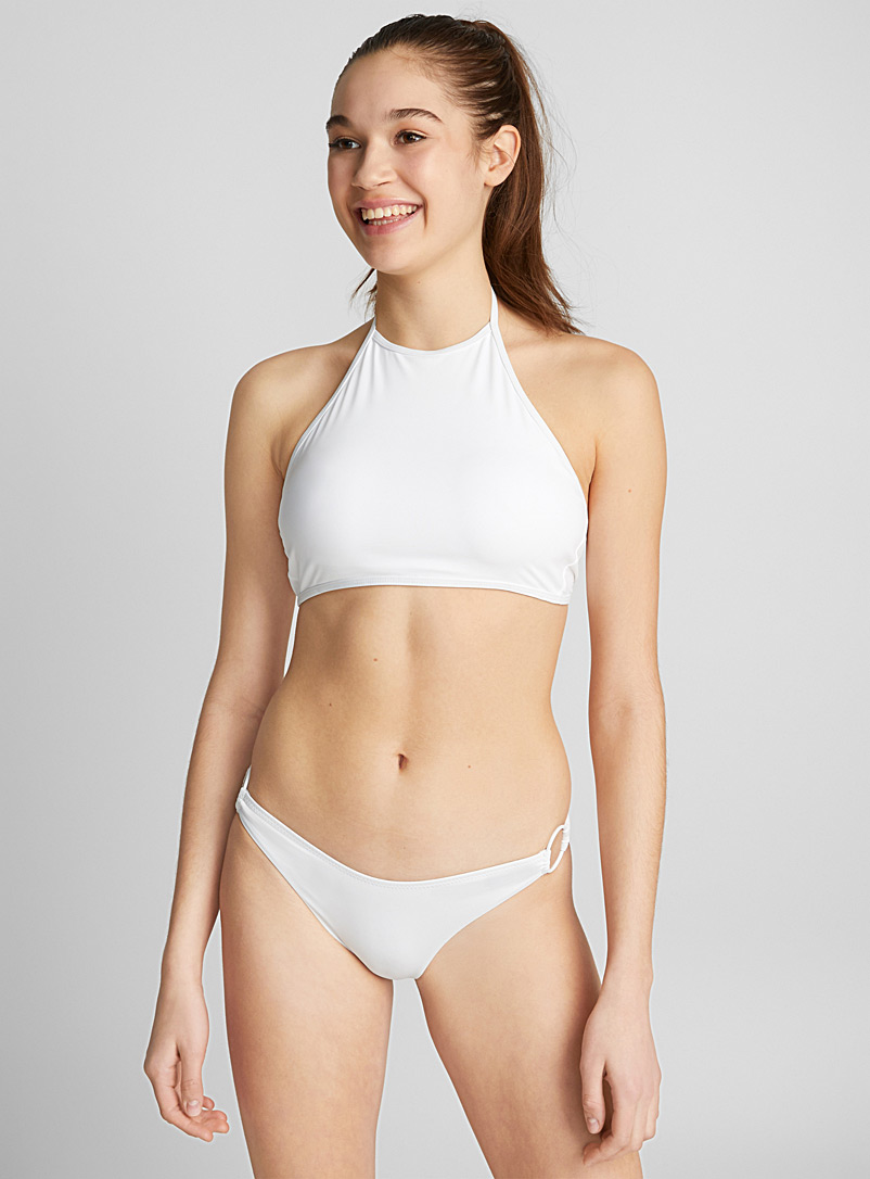 Cropped halter top - Crop top - White