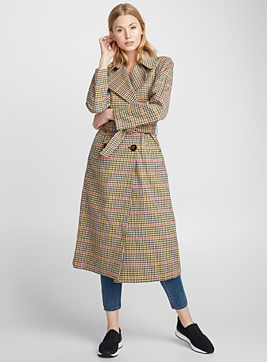 Siri colourful check trench