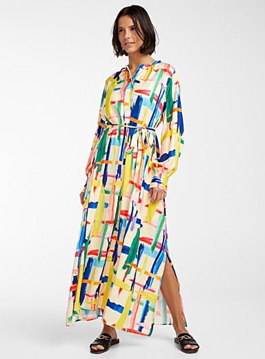 Valila graphic painting dress
