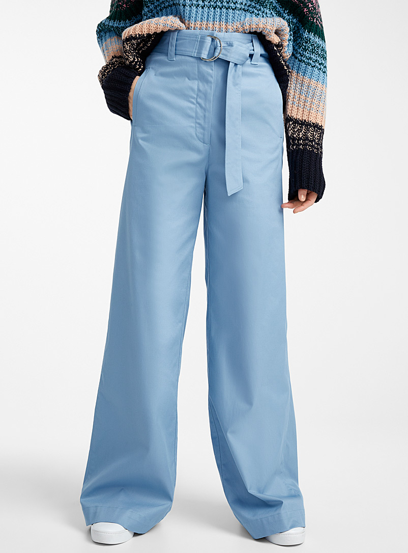 Essentiel Antwerp Baby Blue Vlad belted wide-leg pant for women