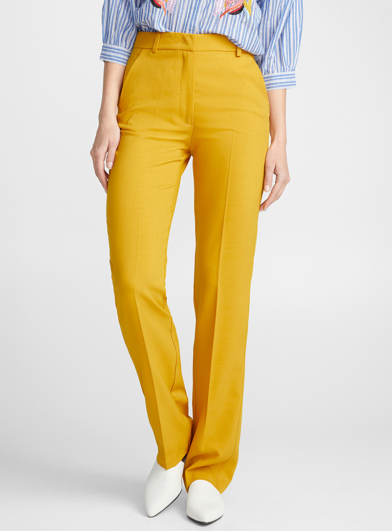 shimmer-yellow-straight-pant