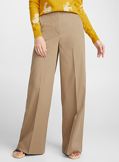 Summertime structured wide-leg pant