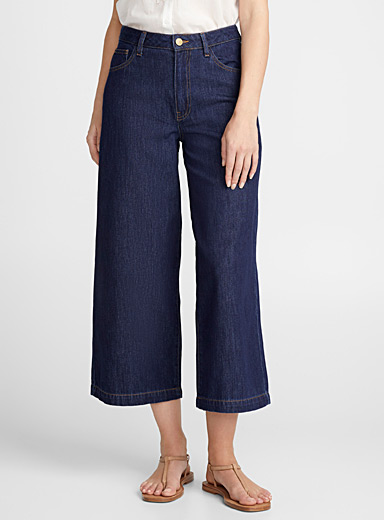 Suv cropped wide-leg jean