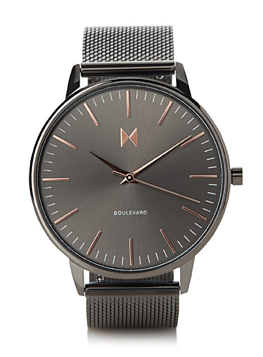 Boulevard rose gold-accent watch