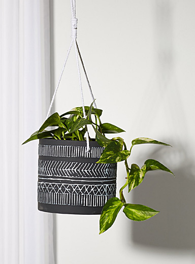 Nomadic engravings hanging planter
