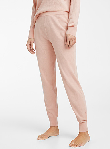 Miiyu Dusky Pink Natural colour joggers for women