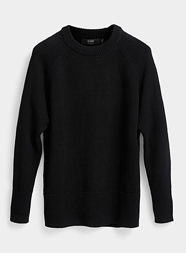 Le pull ample larges bordures