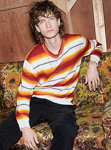 Graded stripe sweater