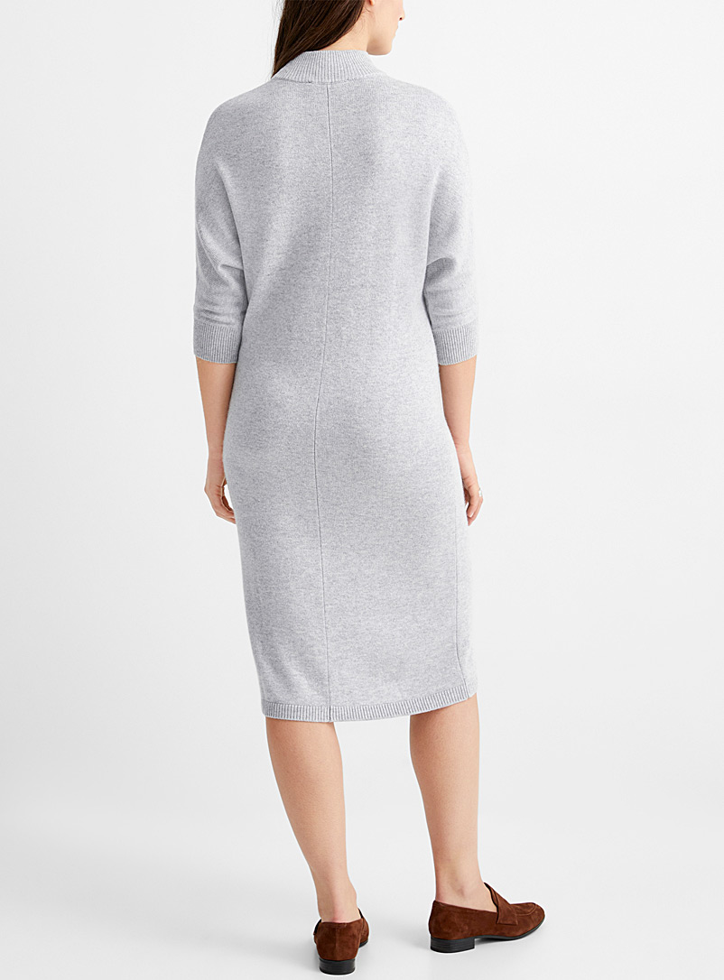 Contemporaine Charcoal Batwing-sleeve sweater dress for women