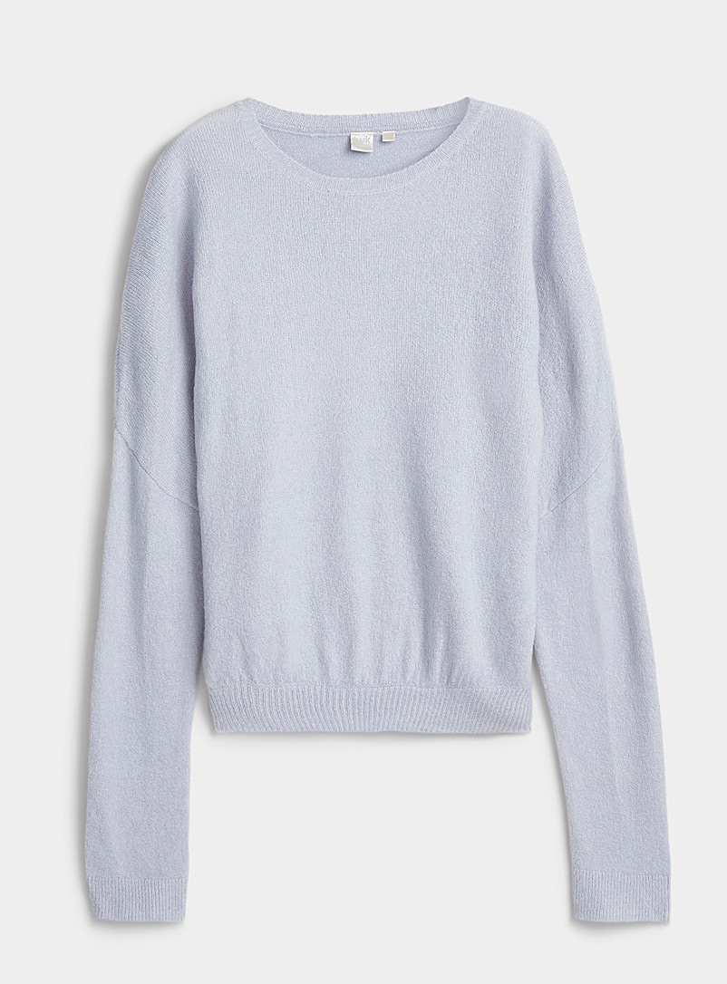 Twik Baby Blue Ultra soft loose cropped sweater for women