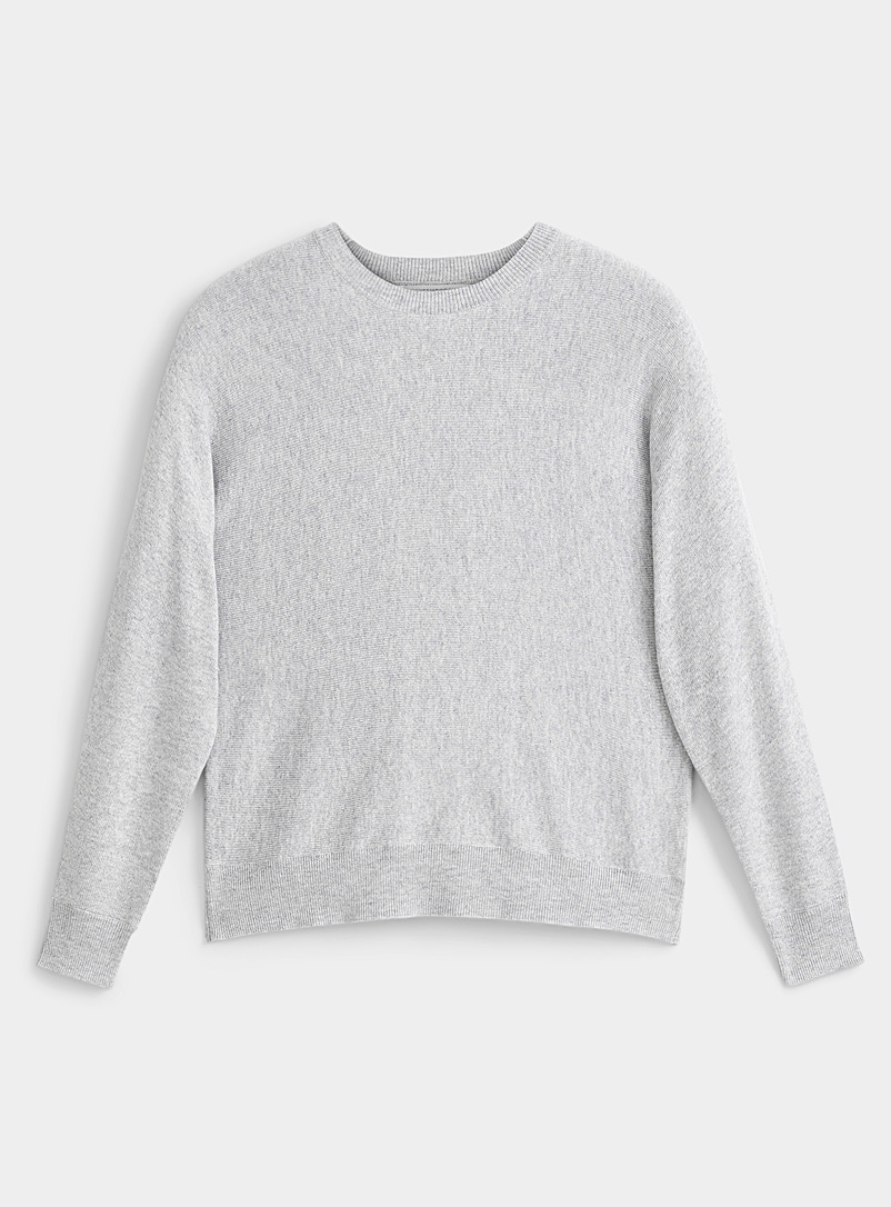Contemporaine Light Grey Fluid batwing-sleeve sweater for women